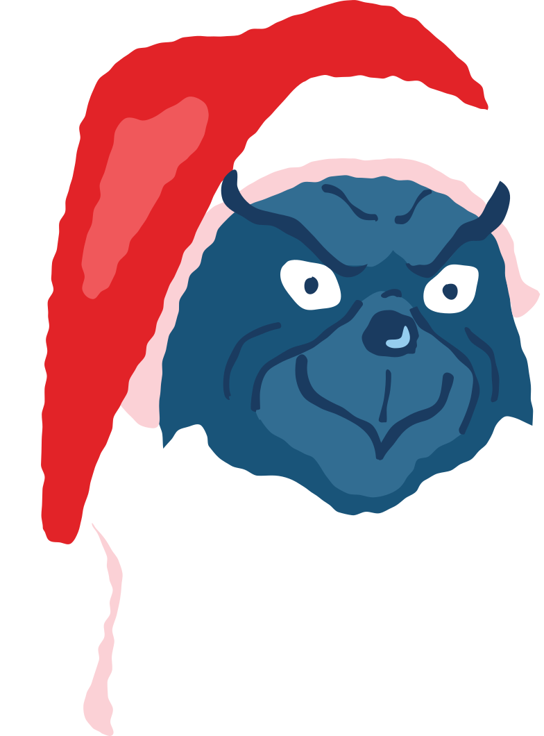 satisfied grinch face Clipart illustration in PNG, SVG