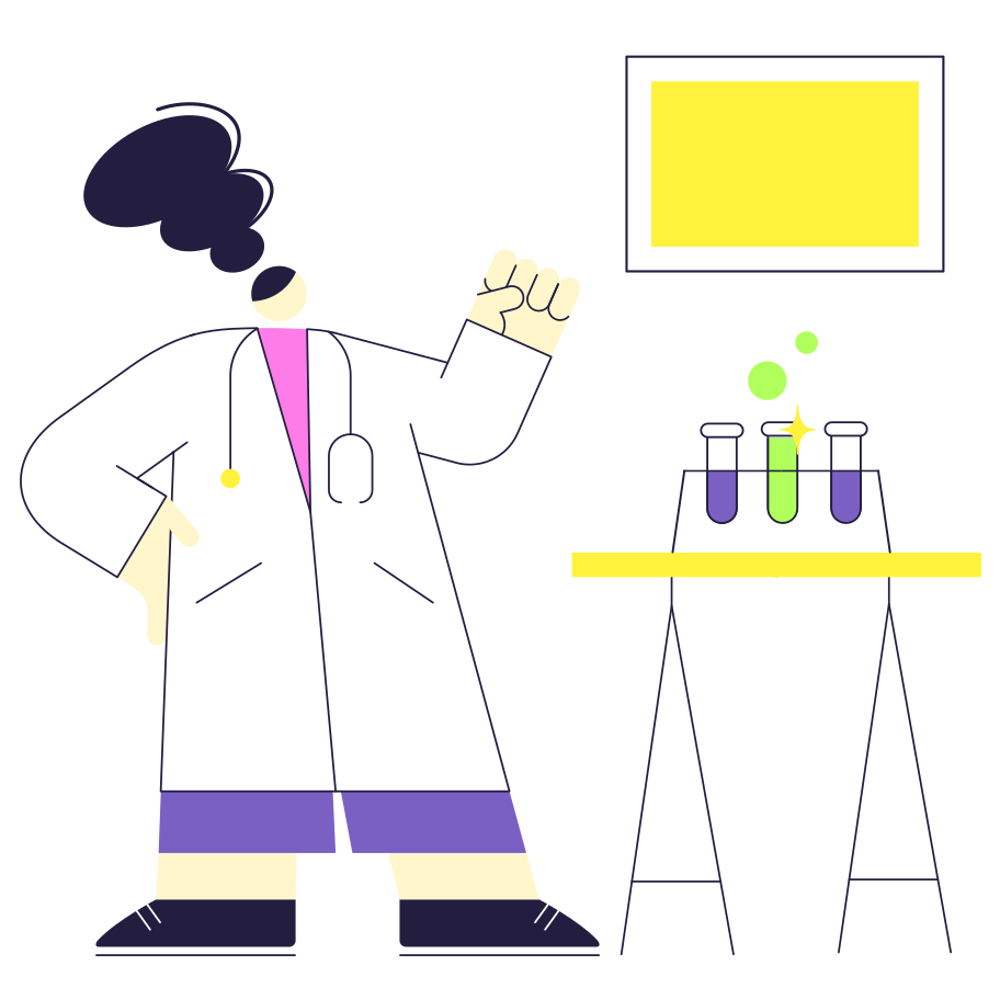 Development of a new medication Clipart illustration in PNG, SVG