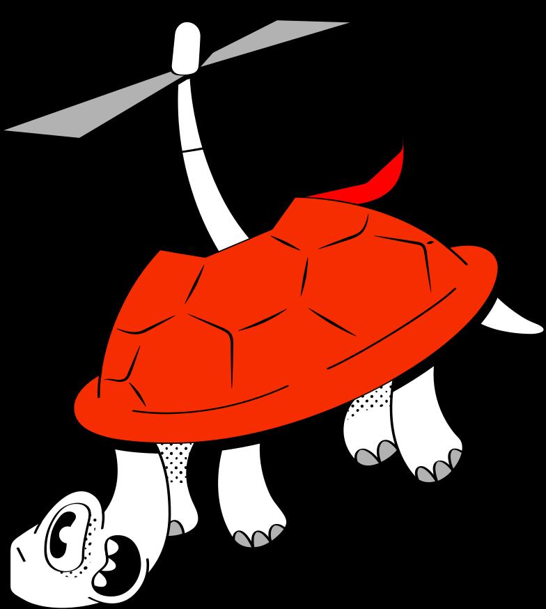flying turtle Clipart illustration in PNG, SVG