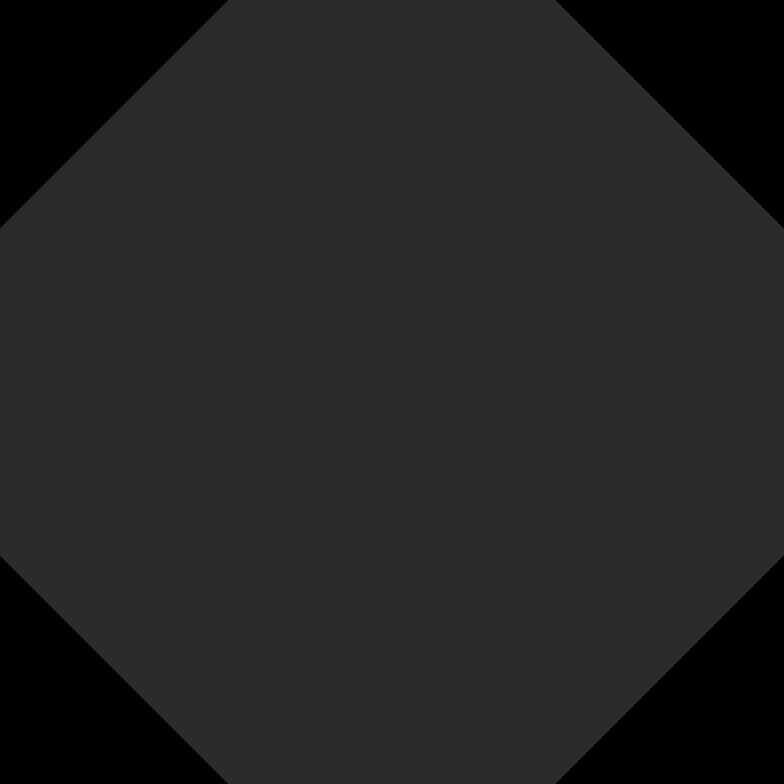 Illustration clipart Octogone noir aux formats PNG, SVG