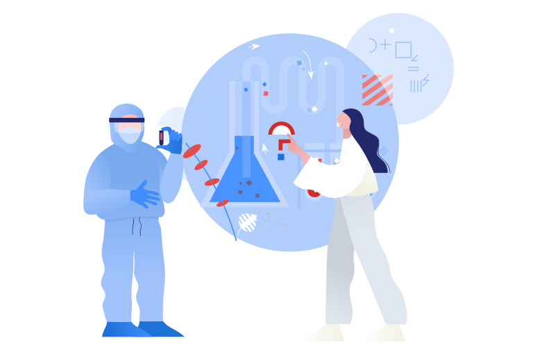 style Developing the vaccine against COVID-19 Vector images in PNG and SVG | Icons8 Illustrations