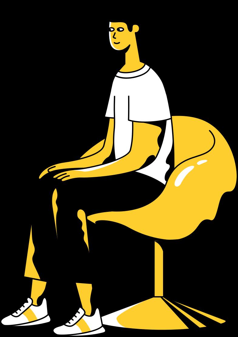 Иллюстрация сидящий человек в стиле  в PNG и SVG | Icons8 Иллюстрации