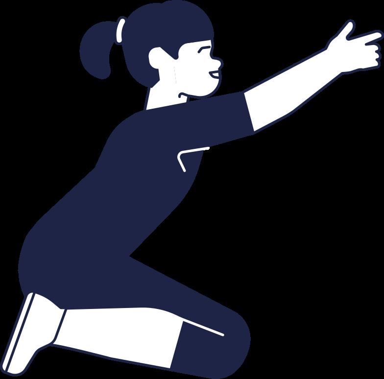 kid 1 line Clipart illustration in PNG, SVG