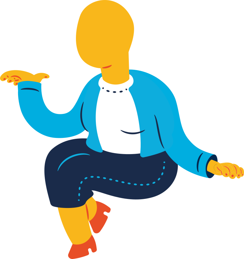 chubby old woman sitting Clipart illustration in PNG, SVG