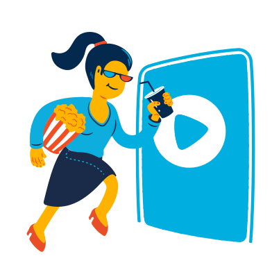 style Woman goes to the cinema images in PNG and SVG | Icons8 Illustrations