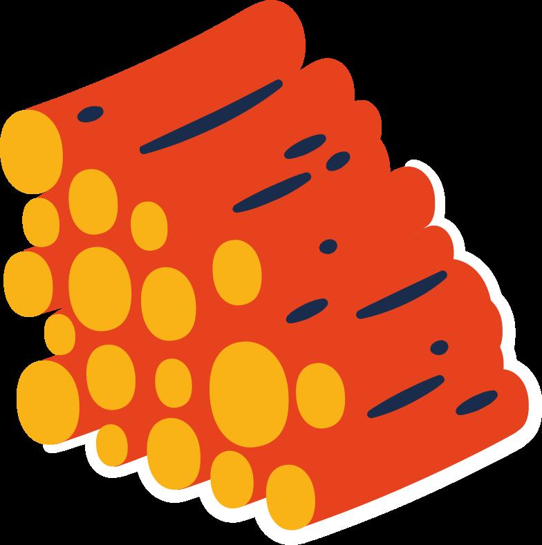 log-pile Clipart illustration in PNG, SVG