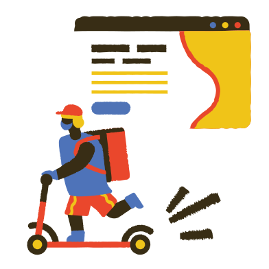 style Delivery hero images in PNG and SVG | Icons8 Illustrations