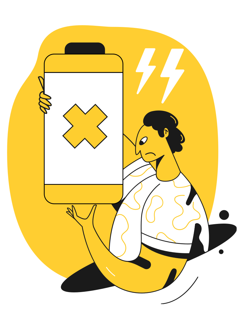 Battery is low Clipart illustration in PNG, SVG