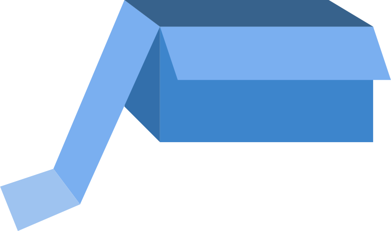 Иллюстрация синяя коробка в стиле  в PNG и SVG | Icons8 Иллюстрации