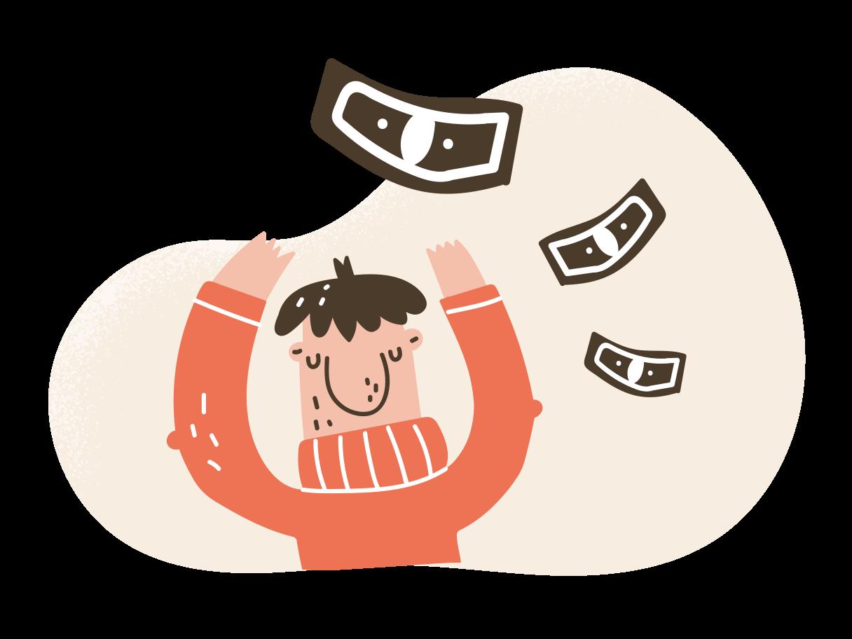 Money flow  Clipart illustration in PNG, SVG