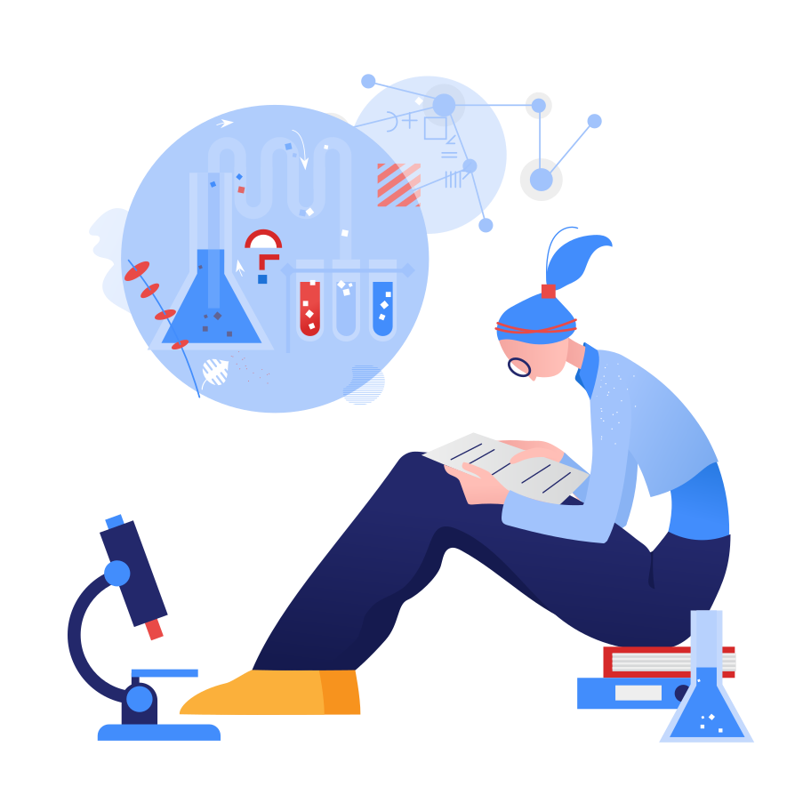 The Chem homework Clipart illustration in PNG, SVG