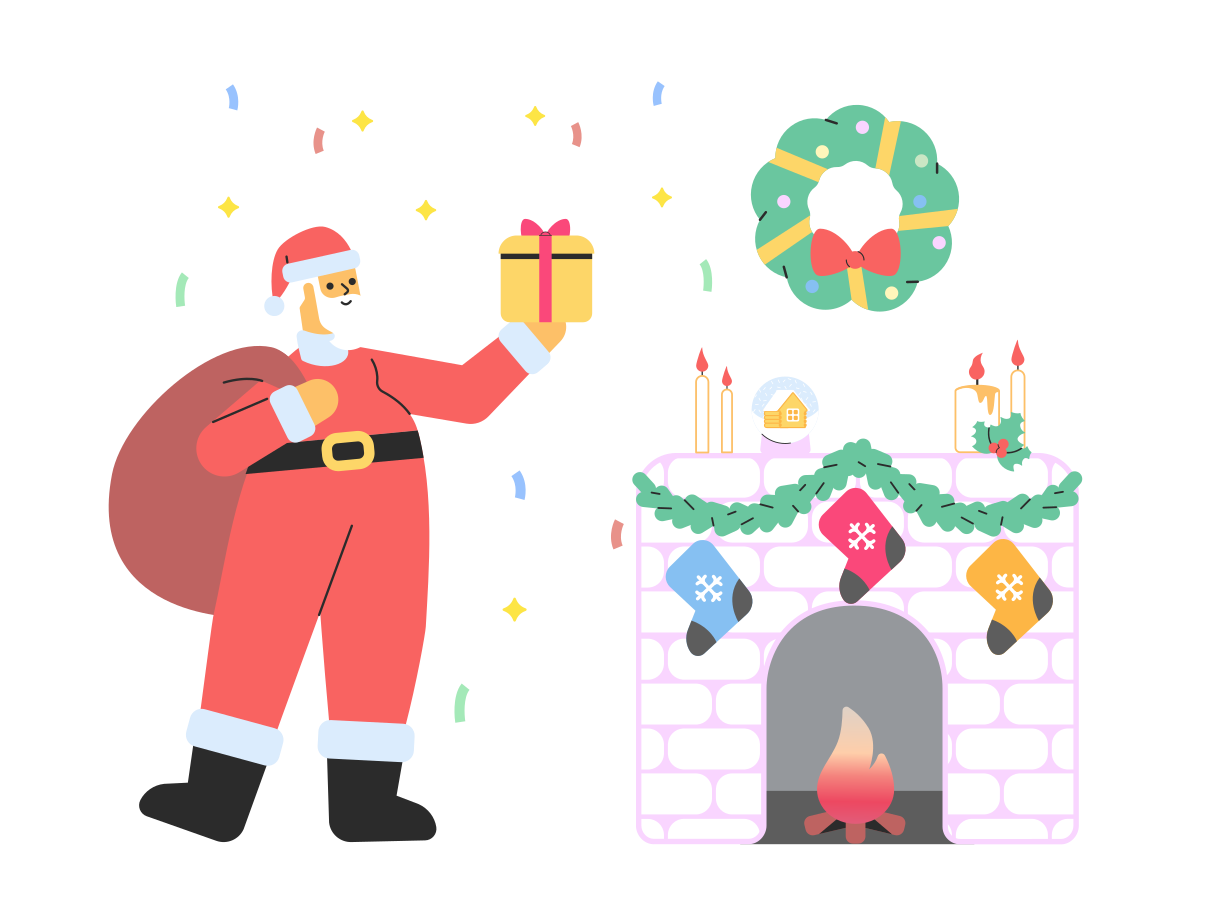 Christmas evening Clipart illustration in PNG, SVG
