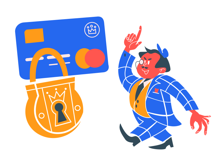 Card is locked Clipart illustration in PNG, SVG