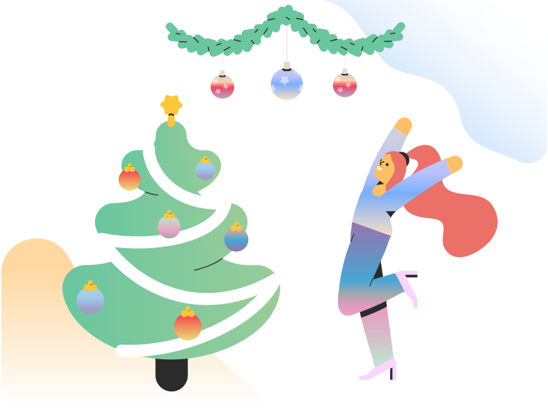 Happy about Christmas Clipart illustration in PNG, SVG