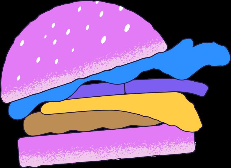 hamburger Clipart illustration in PNG, SVG