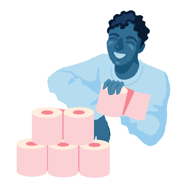 style Toilet paper tower Vector images in PNG and SVG | Icons8 Illustrations