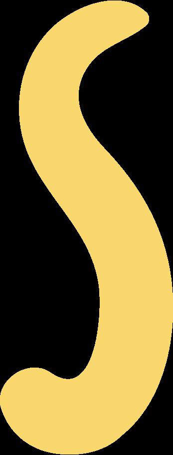 s letter Clipart illustration in PNG, SVG