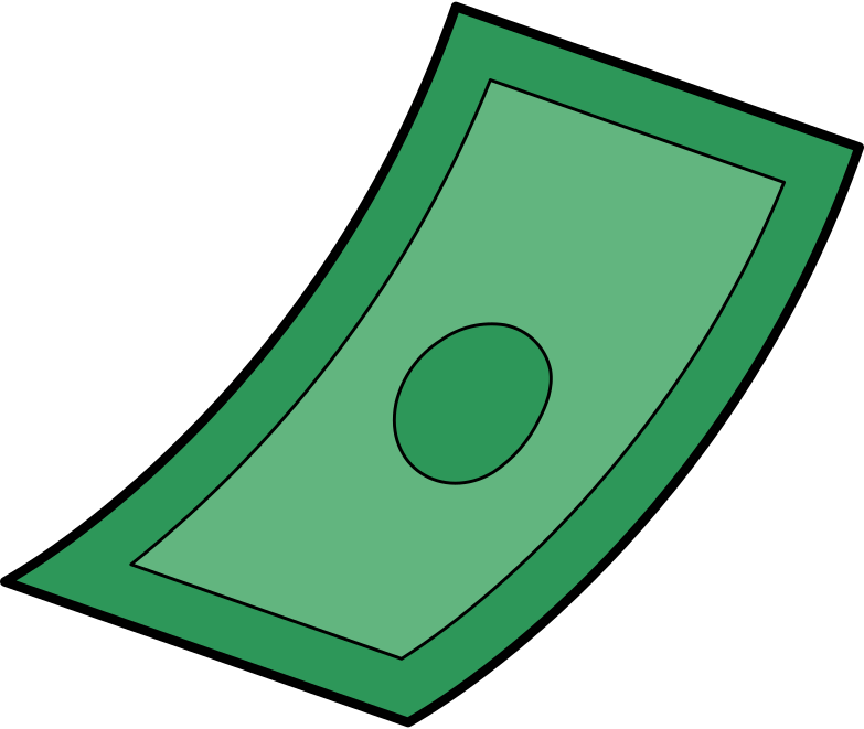 paper money Clipart illustration in PNG, SVG