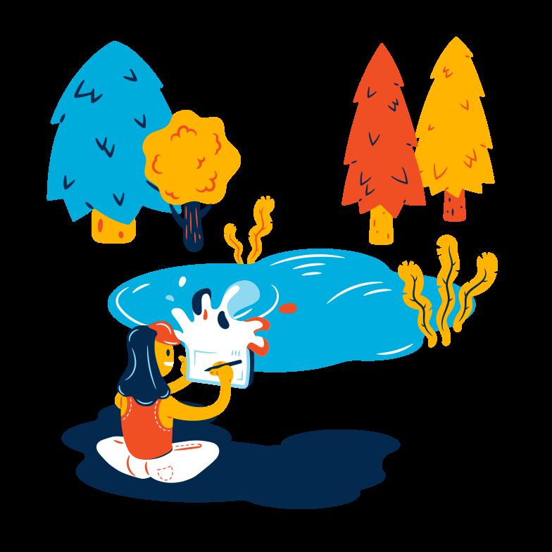 Illustrator at work Clipart illustration in PNG, SVG