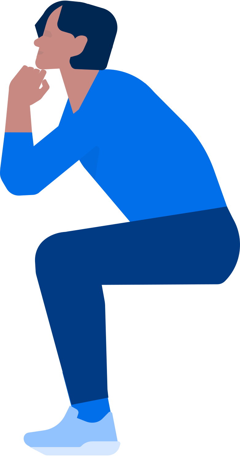 man sitting at a table Clipart illustration in PNG, SVG