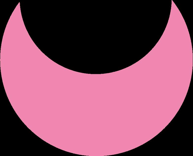 crescent pink Clipart illustration in PNG, SVG