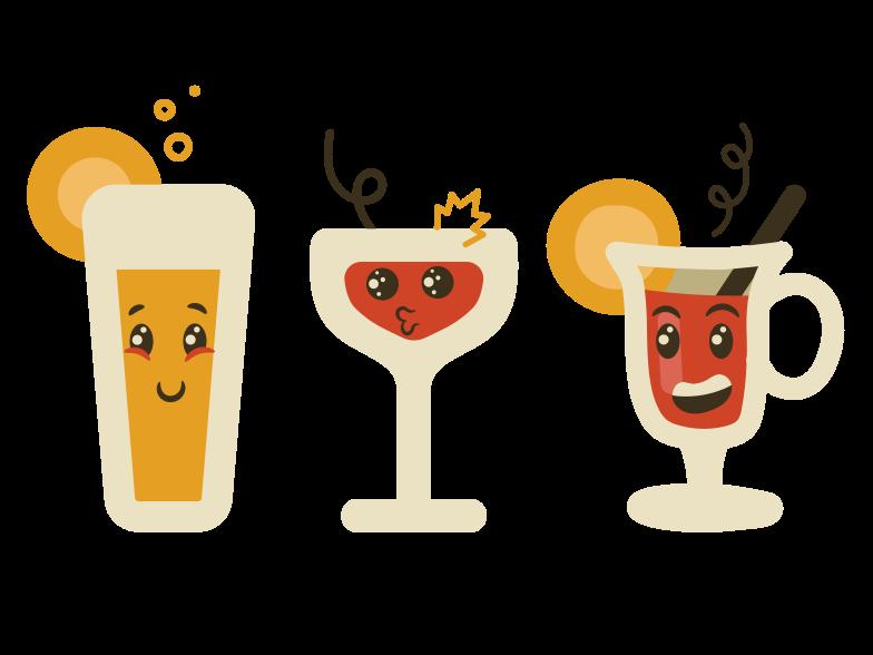 Cocktails Clipart illustration in PNG, SVG