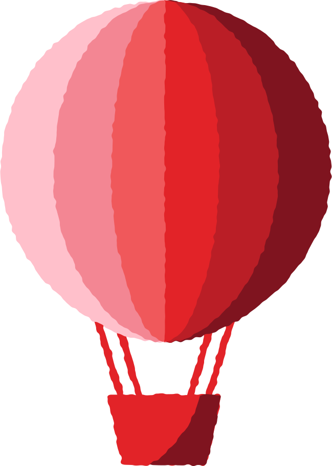 hot air balloon red Clipart illustration in PNG, SVG