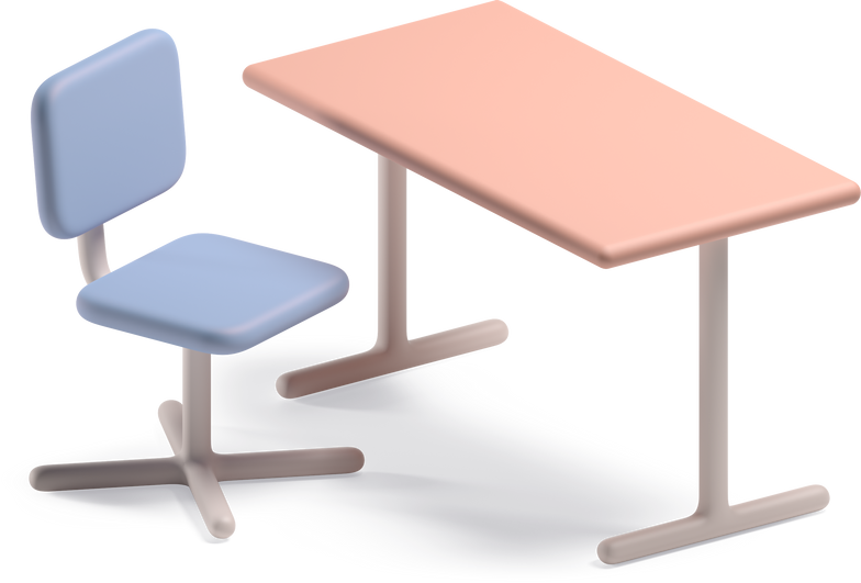 table and chair Clipart illustration in PNG, SVG