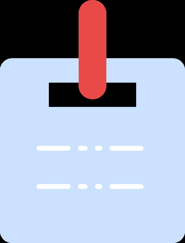 Ilustración de clipart de carné de identidad en PNG, SVG