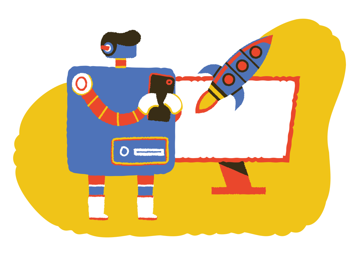Artificial intelligence startup Clipart illustration in PNG, SVG