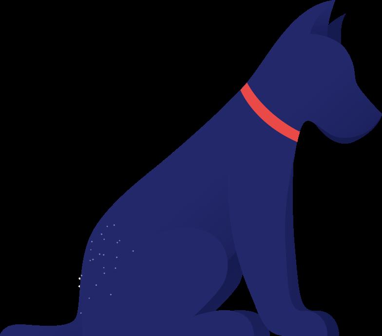 Ilustração de clipart de cão em PNG e SVG
