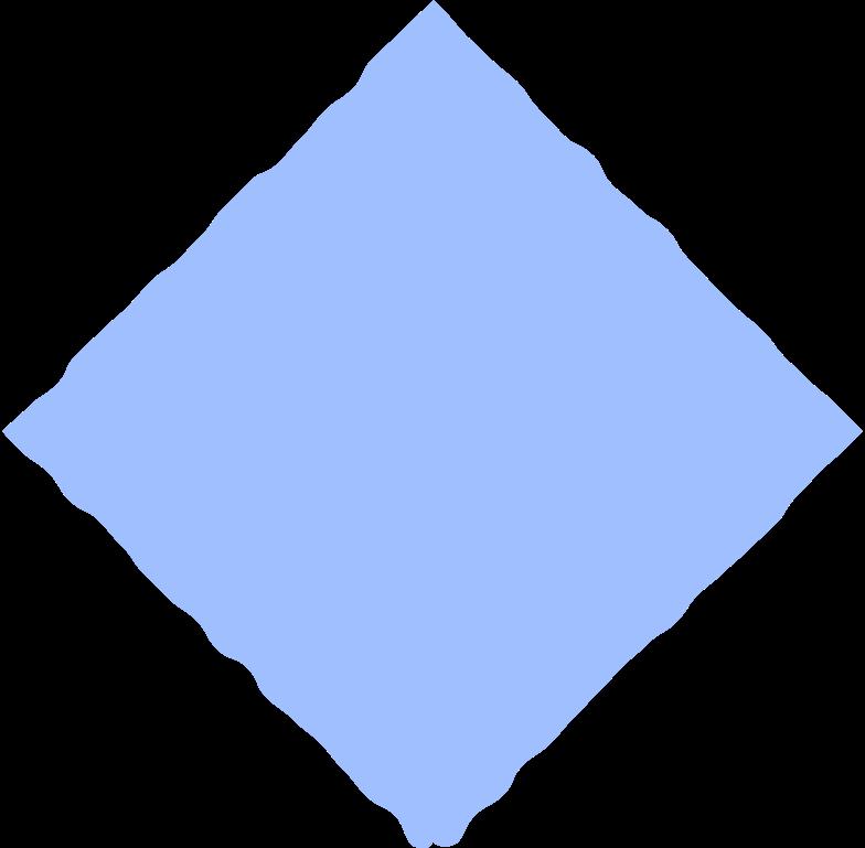 rhombus light blue Clipart illustration in PNG, SVG