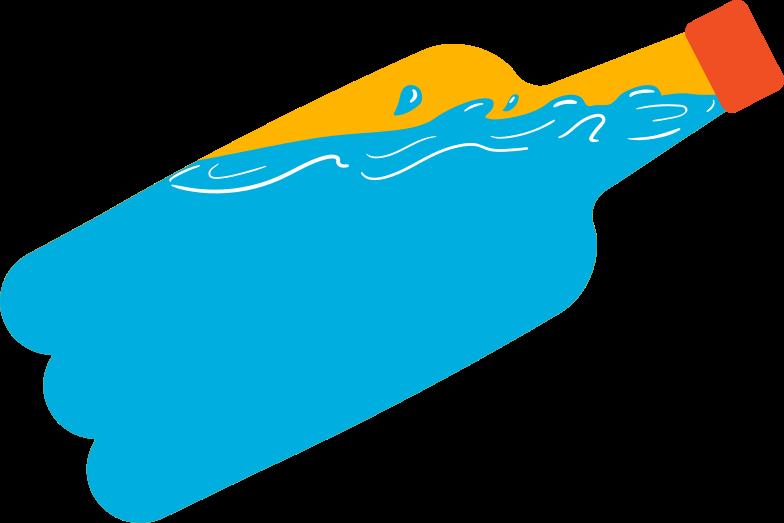 ocean in a bottle Clipart illustration in PNG, SVG