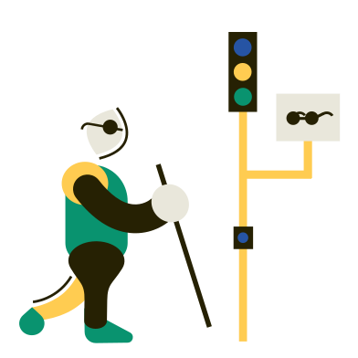 style Traffic light for the blind images in PNG and SVG | Icons8 Illustrations