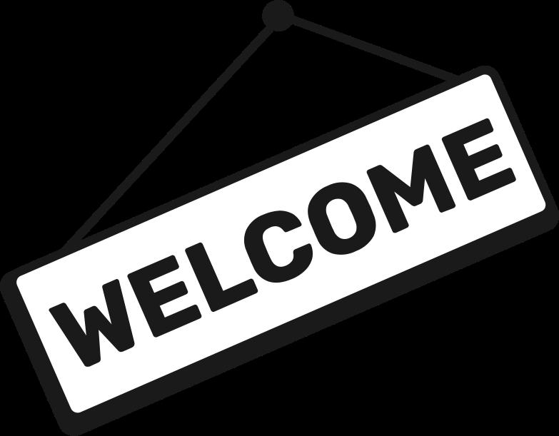 Ilustración de clipart de welcome sign en PNG, SVG