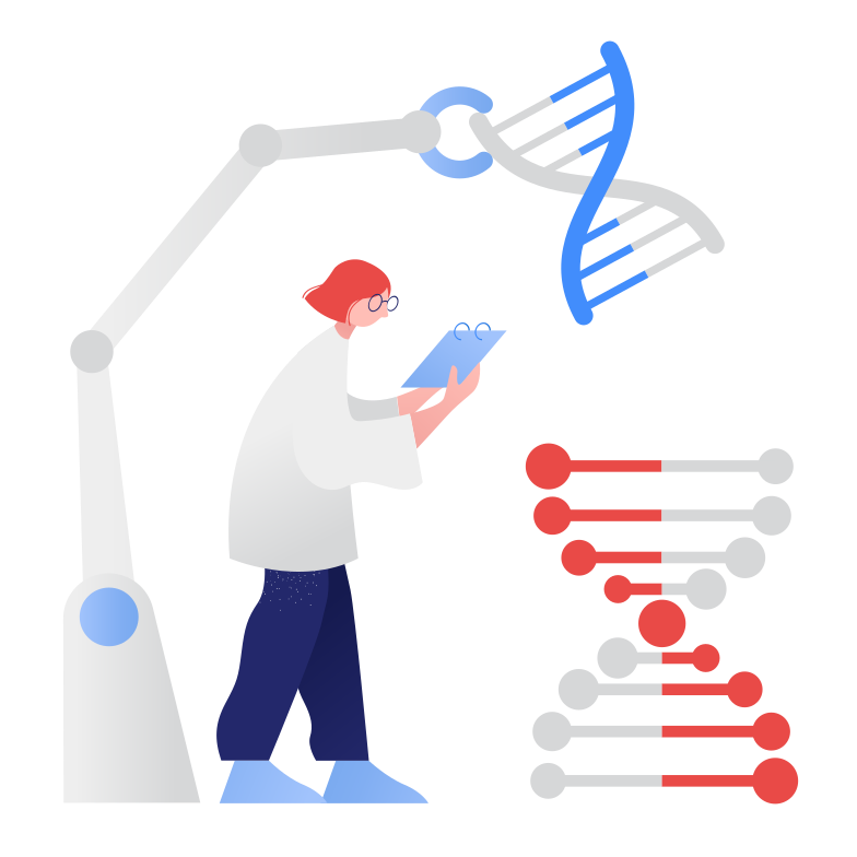 Genetic Engineering Clipart illustration in PNG, SVG