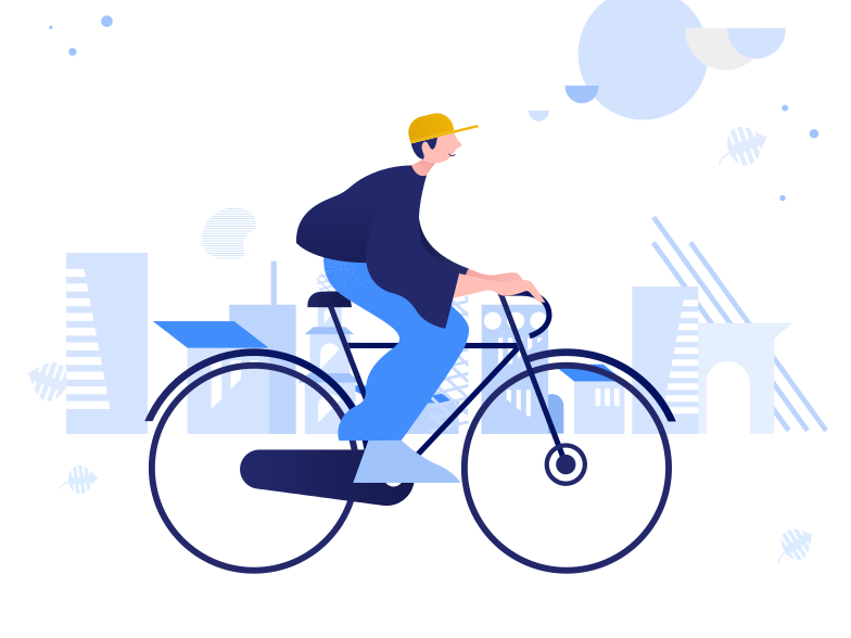 Urban cycling Clipart illustration in PNG, SVG