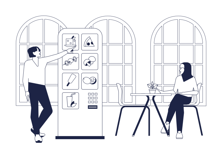 style Self-Service In Cafe Vector images in PNG and SVG | Icons8 Illustrations