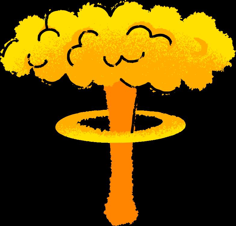 Nukleare explosion Clipart-Grafik als PNG, SVG