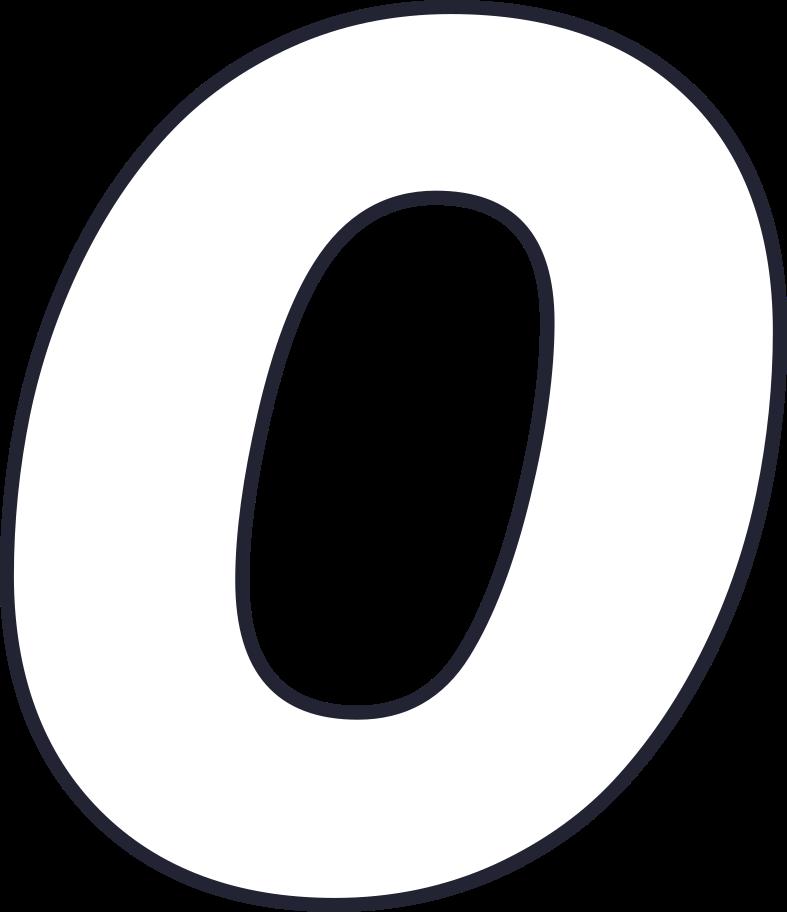 zero number Clipart illustration in PNG, SVG