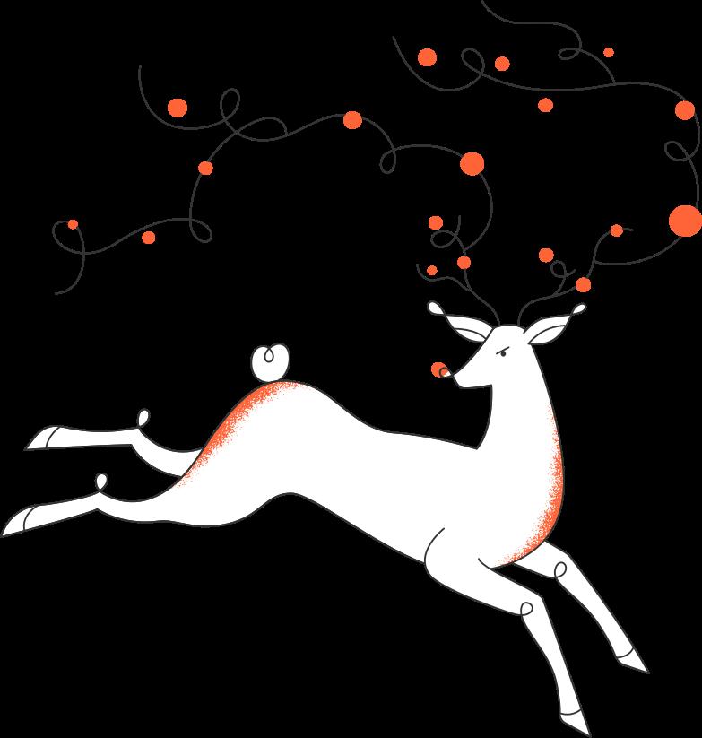 christmas deer Clipart illustration in PNG, SVG