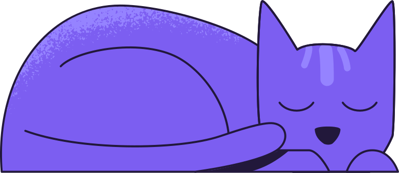 l cat sleeping Clipart illustration in PNG, SVG