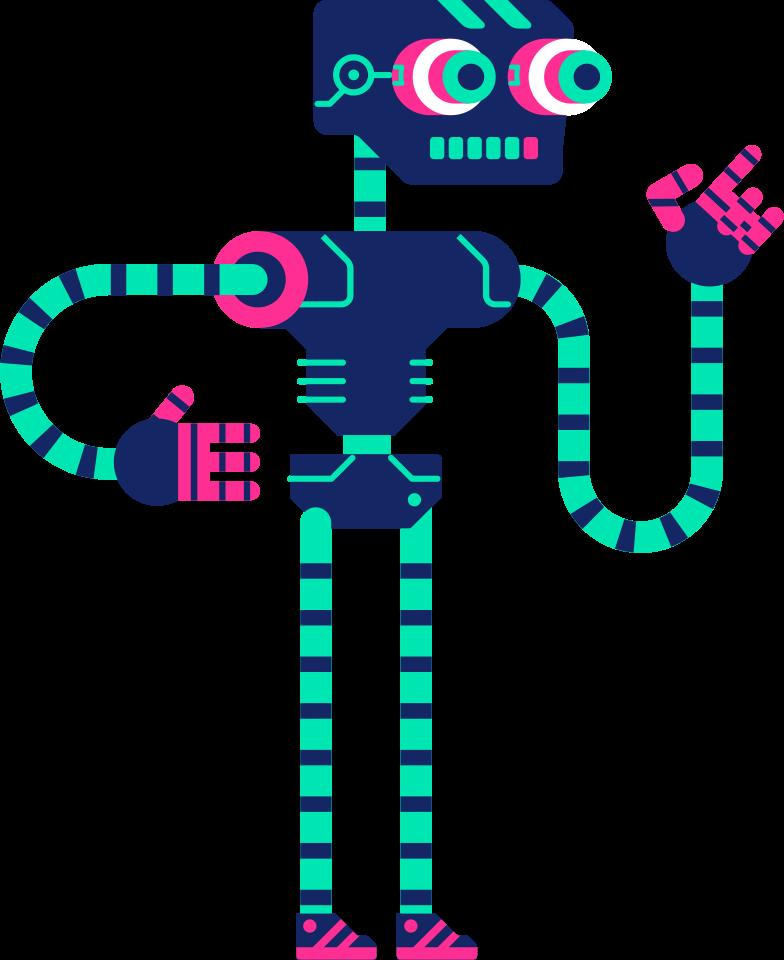 robot teacher Clipart illustration in PNG, SVG