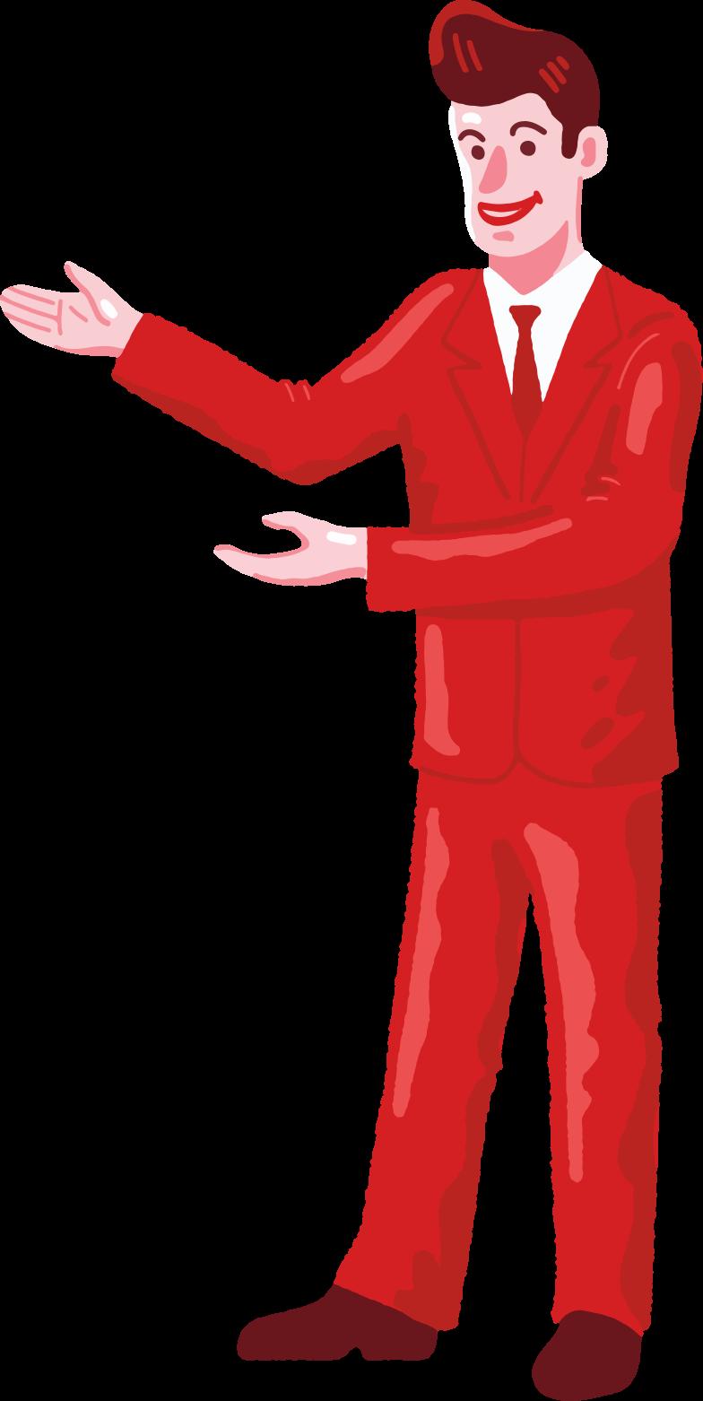 salesman Clipart illustration in PNG, SVG