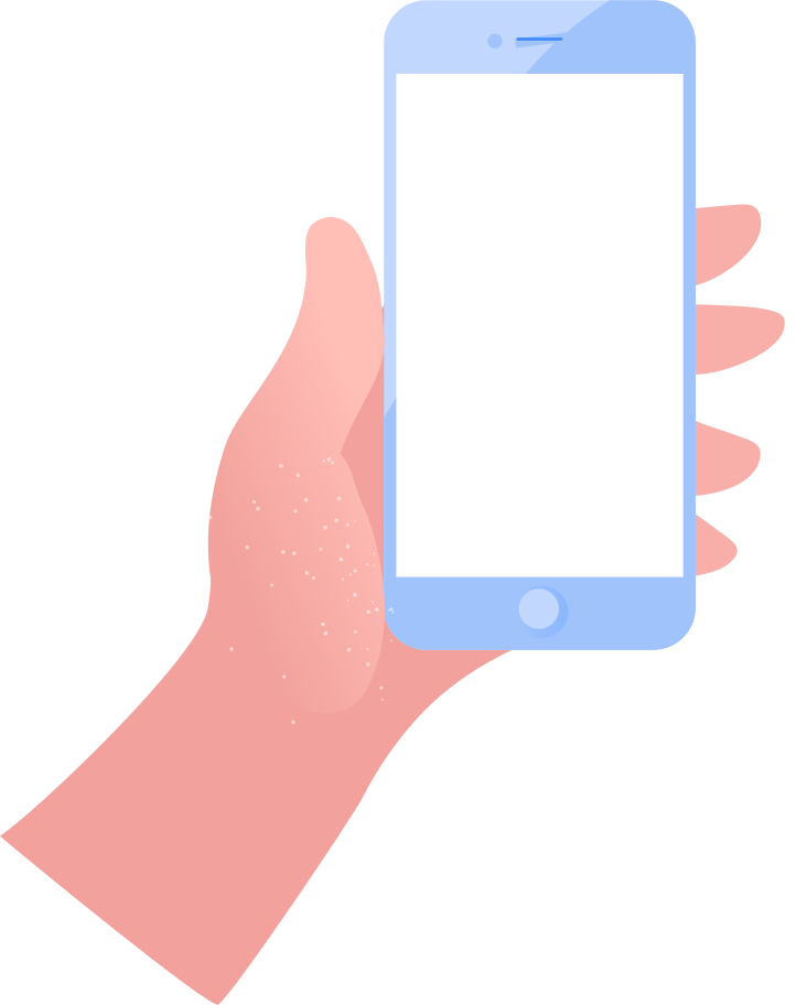 mobile phone in a hand Clipart illustration in PNG, SVG
