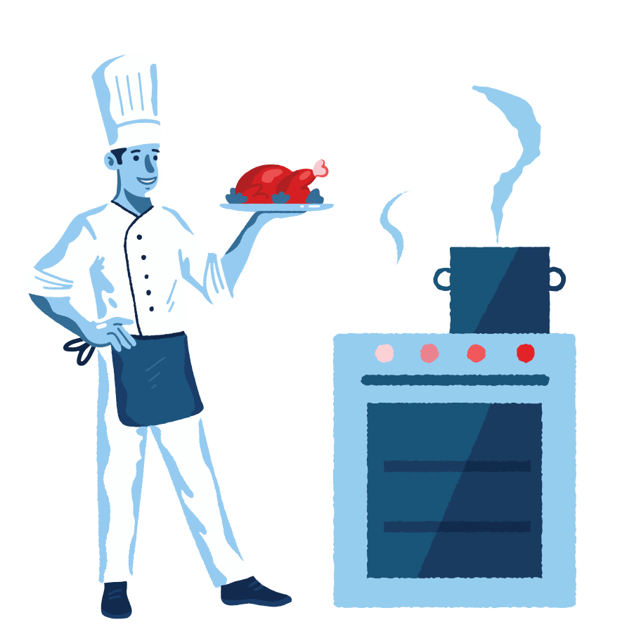 Cooking time Clipart illustration in PNG, SVG