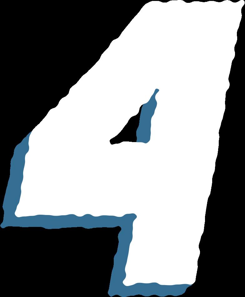 four digit Clipart illustration in PNG, SVG