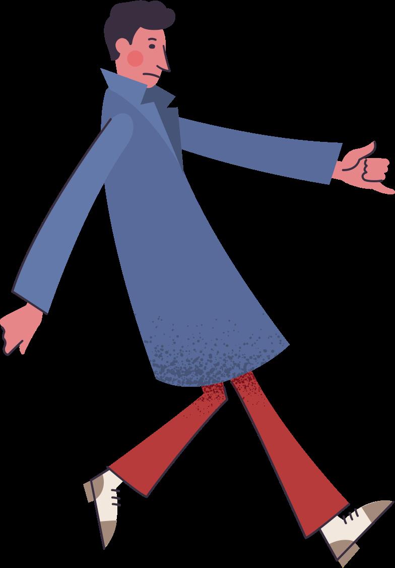 Клипарт Мужчина в пальто в PNG и SVG