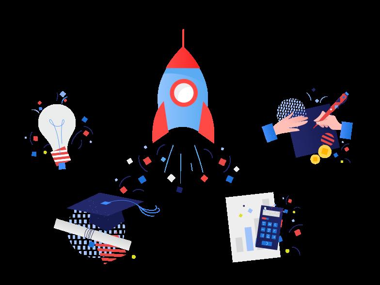 Business start up concept Clipart illustration in PNG, SVG