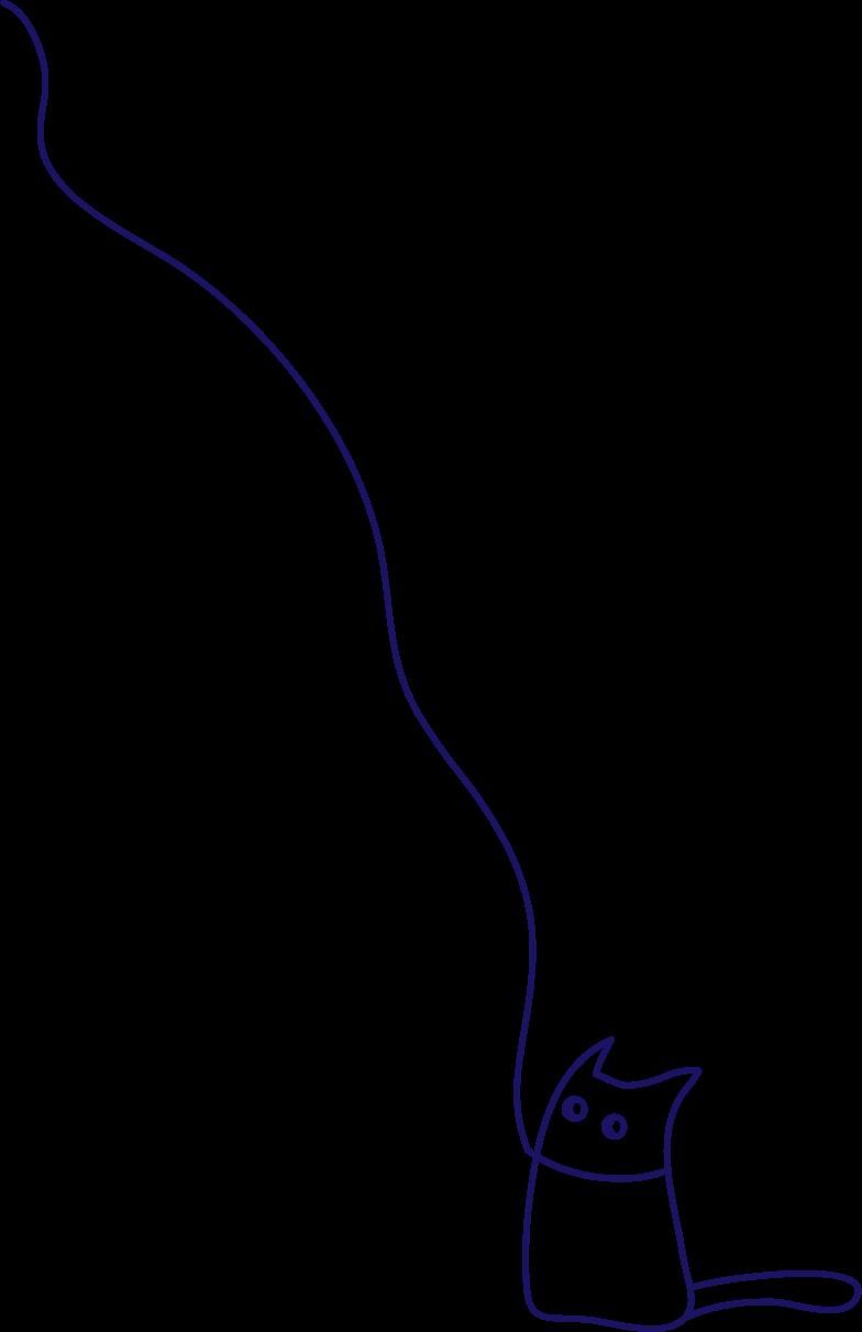 y walking cat Clipart illustration in PNG, SVG